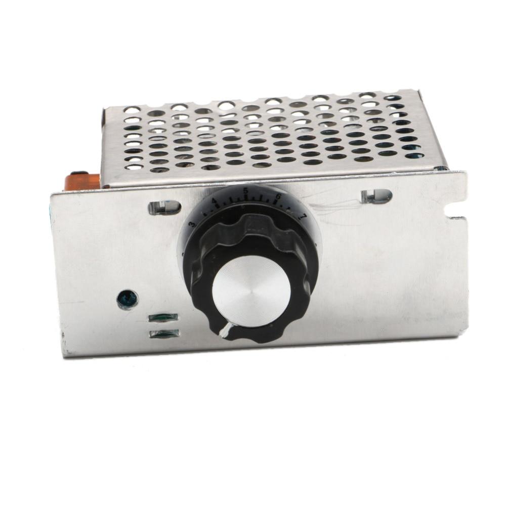 Professional Voltage Regulators 4000W 220V High Power SCR Speed Controller Electronic Voltage Regulator Governor Thermostat BS