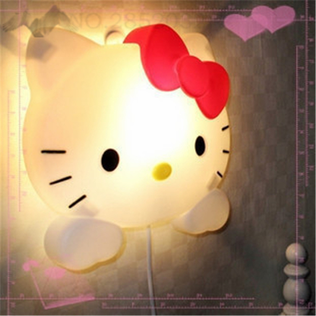 Romantic Hello Kitty Night Lights Cartoon Super Cute Lamps Led - Hello kitty lamps for bedroom