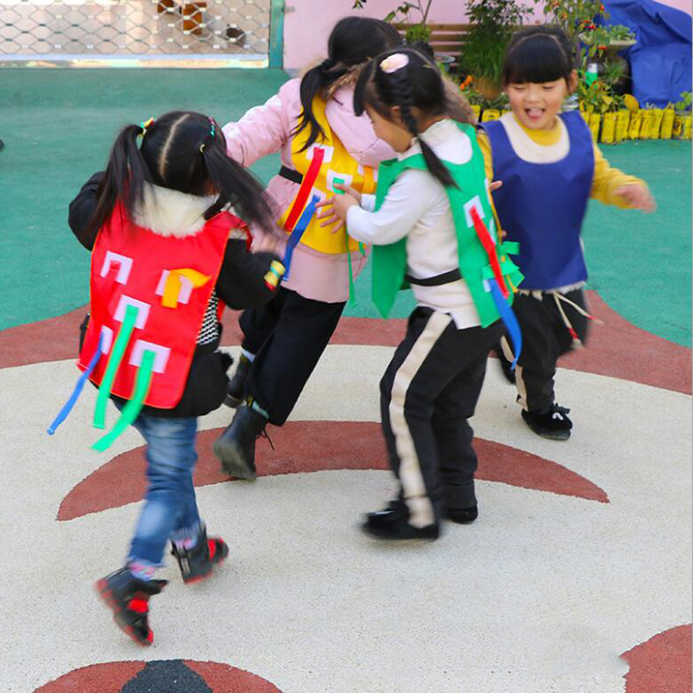 Kids Outdoor School Pull Tails Games Activity Kindergarten Equipment Educational Toys Sports Thick Vest Waistcoat for Children ...