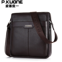 High Quality 100 Guarantee Real First Layer Genuine Leather Cross Body Men Messenger Bags Shoulder Bags