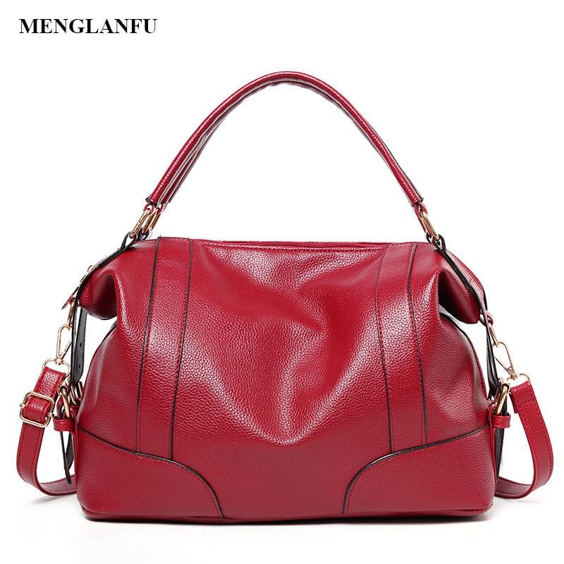 Women's Fashion Shoulder bags Boston leather women handbag 2018 New Ladies Casual Bag female large handbag Crossbody for women