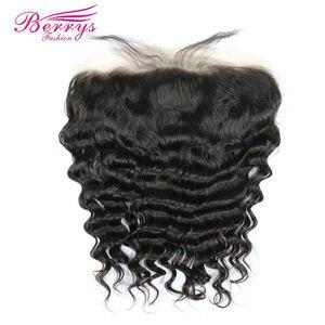 Image 4 - 13x4 koronkowe przednie włosy ludzkie luźne fale dziewicze włosy przezroczyste koronkowe przednie z dzieckiem włosy bielone węzłów