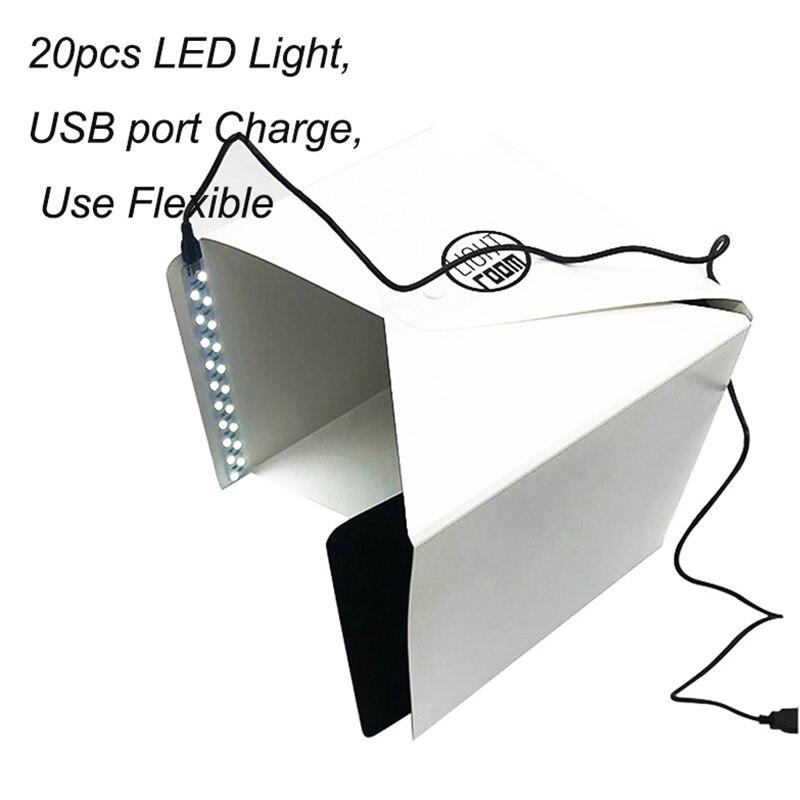 Image 4 - Baolyda 20 LED Mini Studio Photo Box 24cm Light Box for Photography Box Folding Lightbox Whitebox Photobox-in Tabletop Shooting from Consumer Electronics
