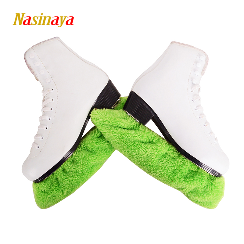Child Adult Long Fleece Ice Skating Figure Skating Skate Blade Cover Guard Solid Color Hockey Skate Accessory Athletic Elastic