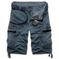 2016 новый летний мужской камуфляж брюки-карго мода короткие брюки парня карманы широкий брюки пляж летом мужские пиджаки короткие Trouses 952