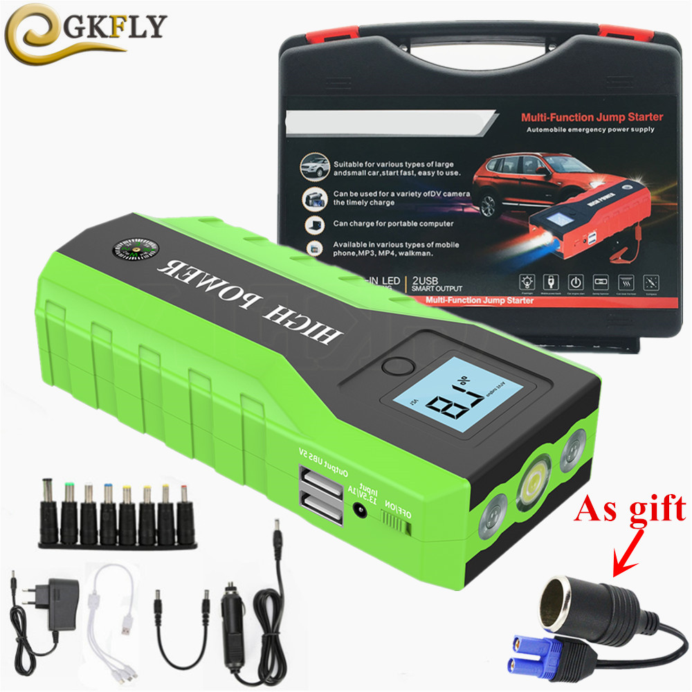 Emergency 89800mAh Starting Device 600A Portable Car Jump Starter Power Bank 12V Car Charger For Car Battery Charger Booster LED