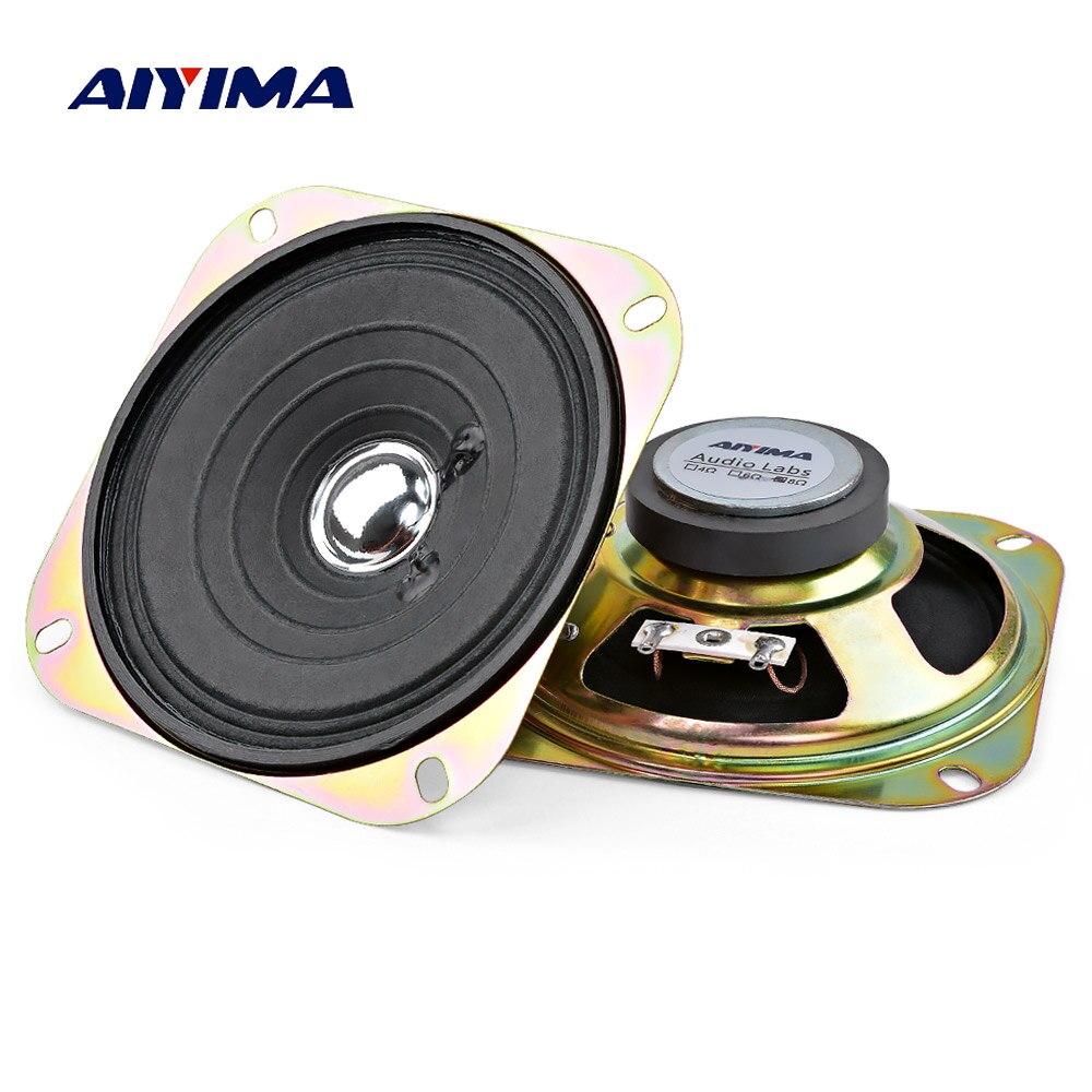 Aiyima 2 pçs 4 Polegada coluna de alto falantes áudio portátil gama completa música som alto-falante 8 ohm 5 w altifalante diy para o teatro em casa