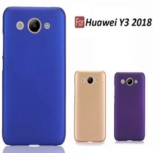 Phone Cases Ultra Slim Hard Rubberized Matte Cover Case for Huawei Y3 2018 Cellphone new in stock