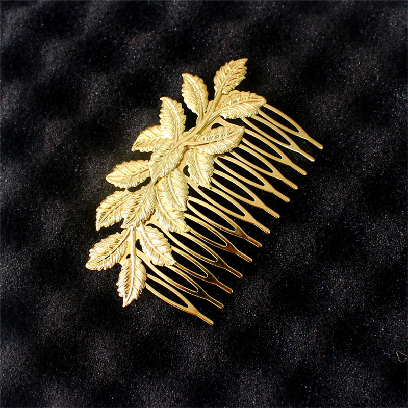 Women Special store fashion gold alloy leaf shape hair Claws jewelry