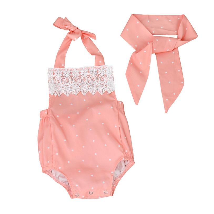 baby clothes 2017 fashion  Toddler Baby Girls Romper Jumpsuit Playsuit Infant Headband Clothes Outfits Set newborn kids baby girls clothes watermelon print romper playsuit summer jumpsuit headband set bm88