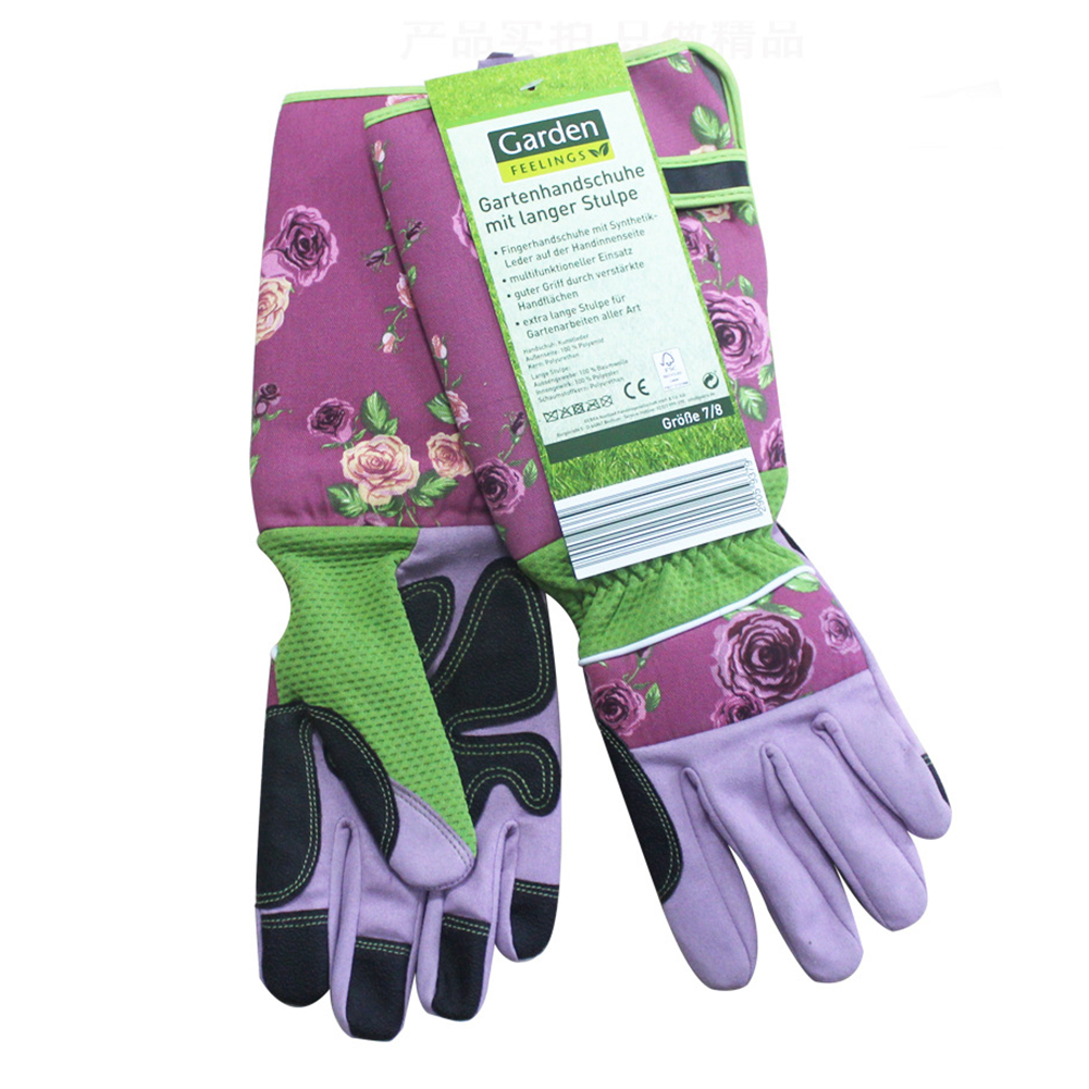 Garden Gloves 1 Pair Accessories Working Planting Wrist Protection Printed Anti Stab Gardening Labor Trimming Thicken Long Sleeve Tools Gloves