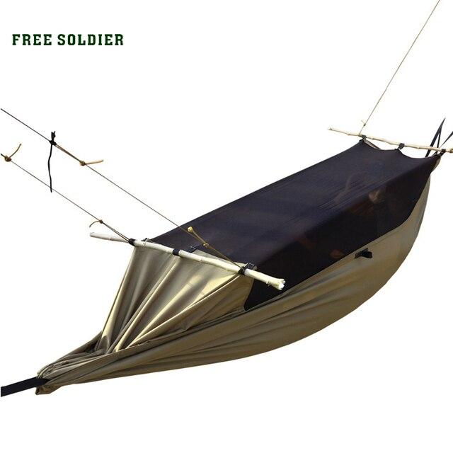 FREE SOLDIER Многофункциональная удобная подвесная износостойкая койка и палатка защиты от комаров для туристов и бивака Поместиться для человека 180 - 195 см высота  Локальная доставка