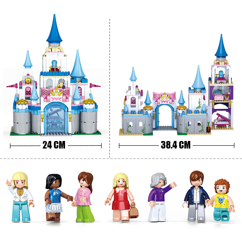 Girl Friends Enchanted Castle Sapphire Princess Castle Building Blocks Compatible Legoings Model Toys for Kids children giftsGirl Friends Enchanted Castle Sapphire Princess Castle Building Blocks Compatible Legoings Model Toys for Kids children gifts