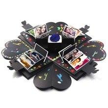 DIY Photo Album Handmade Hexagonal Explosion Gift Box For Family Friends Gift Scrapbook Festival Lovers Gifts
