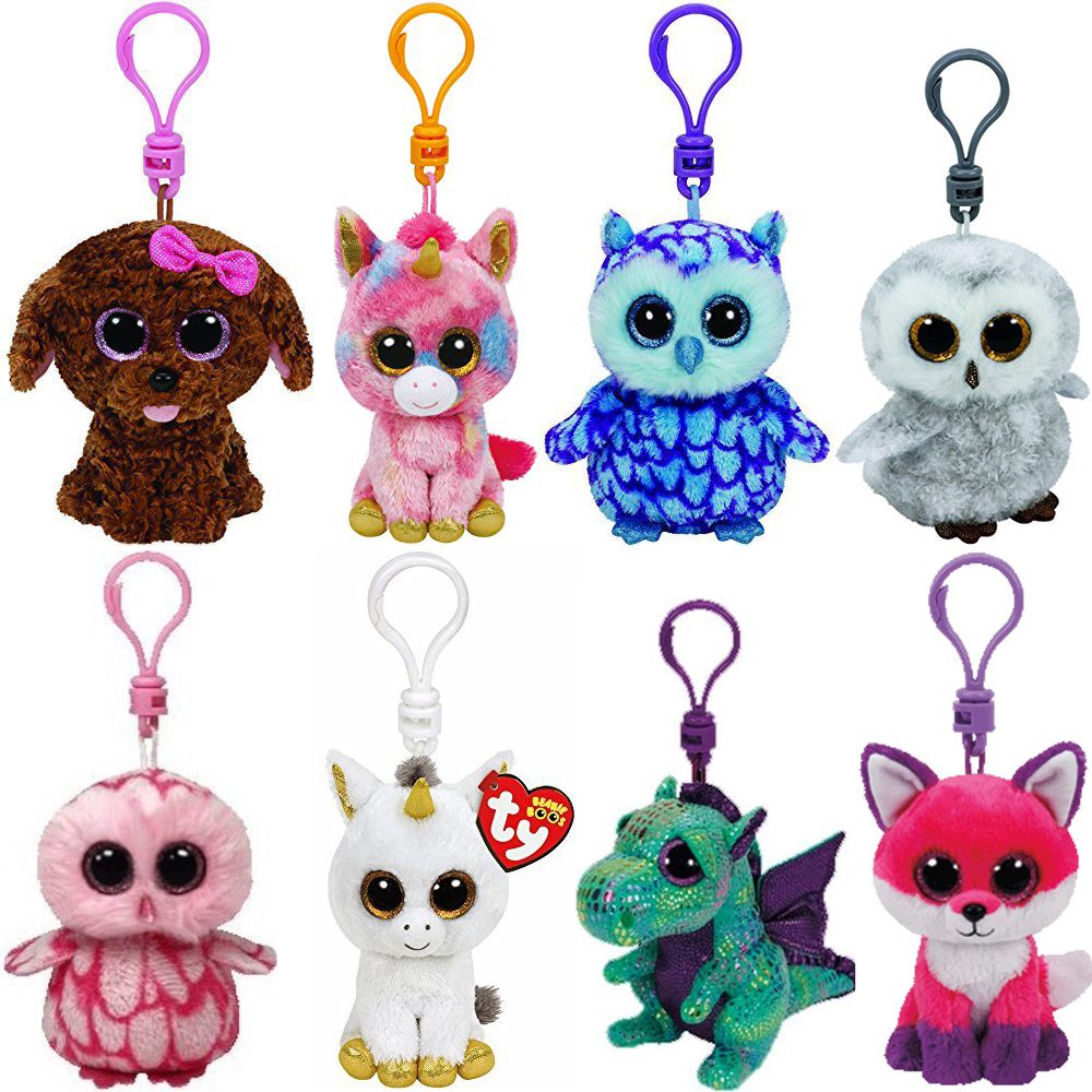 Pyoopeo Ty Beanie Boos 4 Quot 9cm Clip Plush Keychain Cat Dog