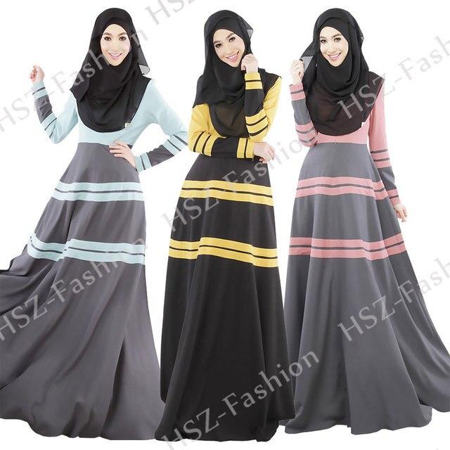 20006 Новый дизайн полосатый заклинание цвет нации Мусульманское платье турецкие женской одежды моды исламские abayas для женщин