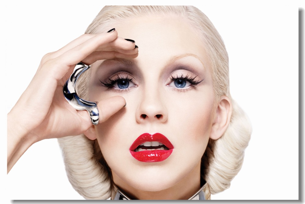Custom Canvas Wall Decals Sexy Christina Aguilera Bionic Album Cover Poster Christina Aguilera Wallpaper Office Stickers #0399#