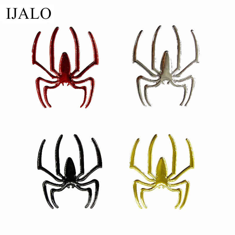 1 paar Cool Spider 3D auto sticker zachte PVC Verchroomde embleem badge Sticker auto decoratie accessoires sticker