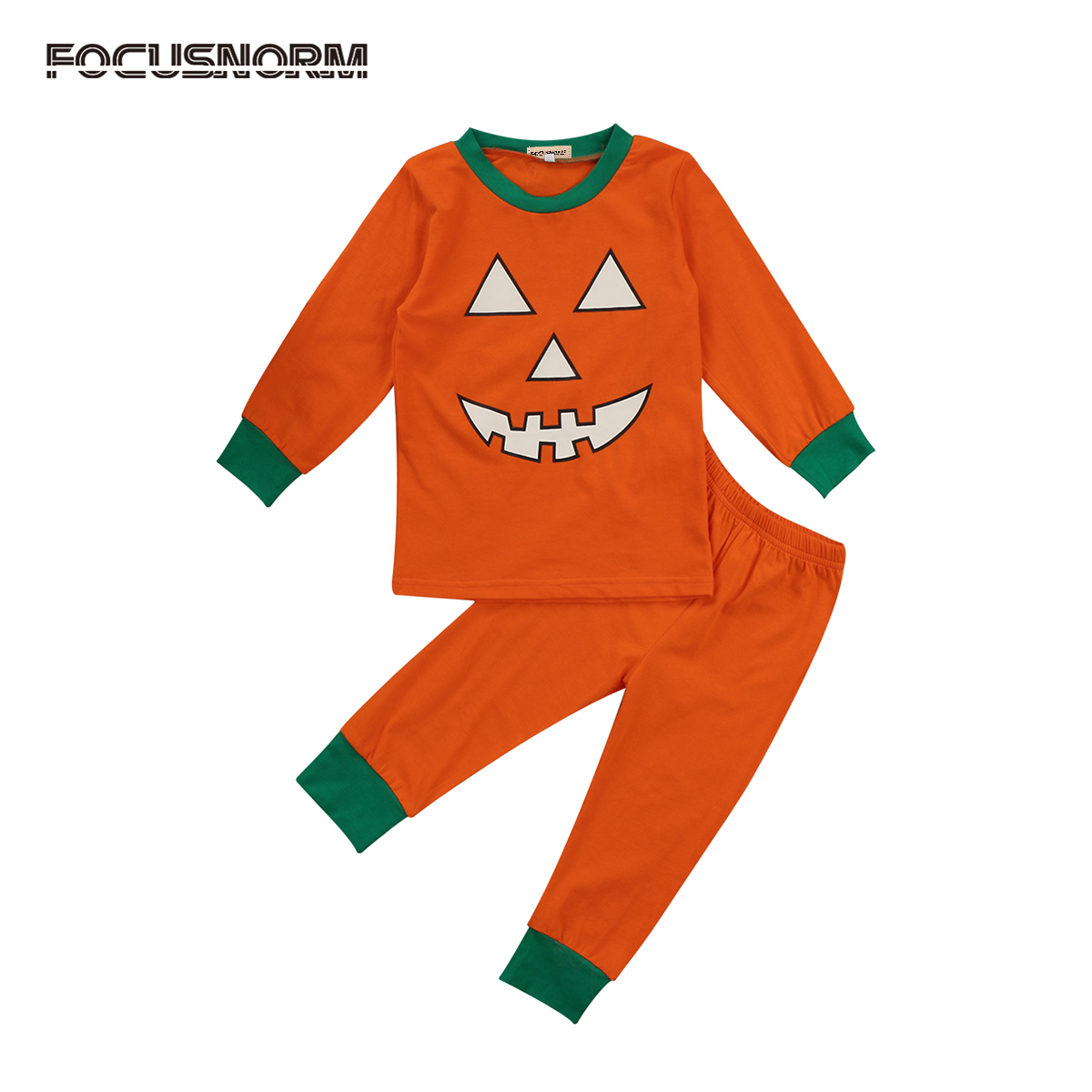 Halloween Newborn Clothing Sets Pumpkin Toddler Baby Kids Girl Warm Autumn Winter Clothes Playsuit Pants Outfit Set