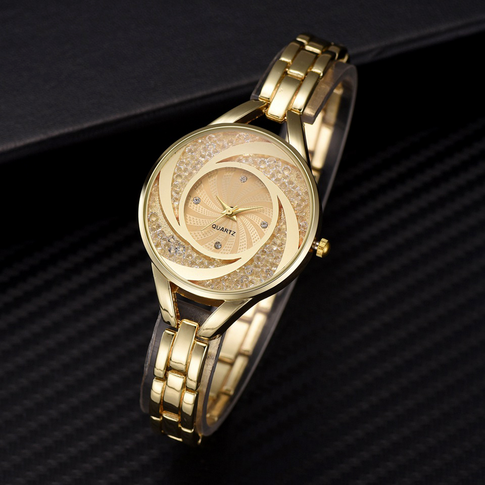 Luxury Gold Bracelet Quartz Watches For Women Crystal Diamond Dress Wrist Watch Ladies 2019 New Clock Relogio FemininoLuxury Gold Bracelet Quartz Watches For Women Crystal Diamond Dress Wrist Watch Ladies 2019 New Clock Relogio Feminino
