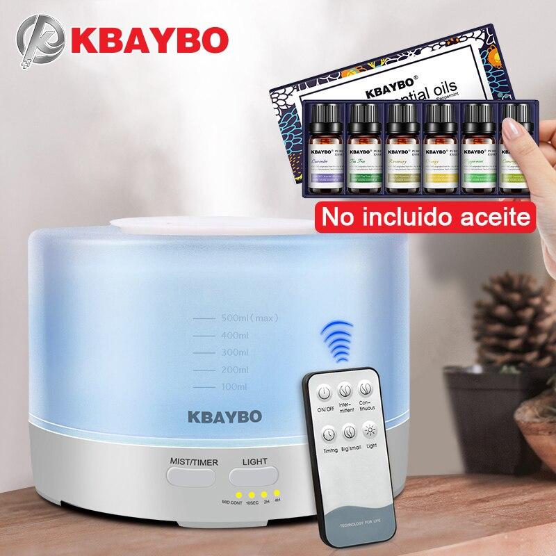 500 ml Controle Remoto Umidificador Aromaterapia Óleo Essencial Óleo Essencial de Aroma Difusor Com 7 Cor Luzes LED para o Difusor