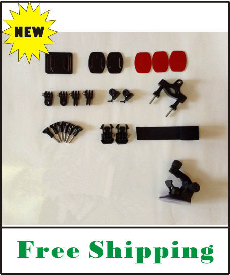 NEW top quality multi-purpose universal mount kit + suction cup top quality for Gopro Hero2/Hero3/RD31/ RD32/ RD36/SD21/SD26