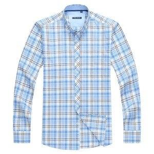 Image 5 - Классическая мужская рубашка в клетку, 5XL, 6XL, 7XL, 8XL, 9XL, 10XL, большие размеры, деловая Повседневная модная хлопковая рубашка с длинными рукавами, Мужская брендовая одежда