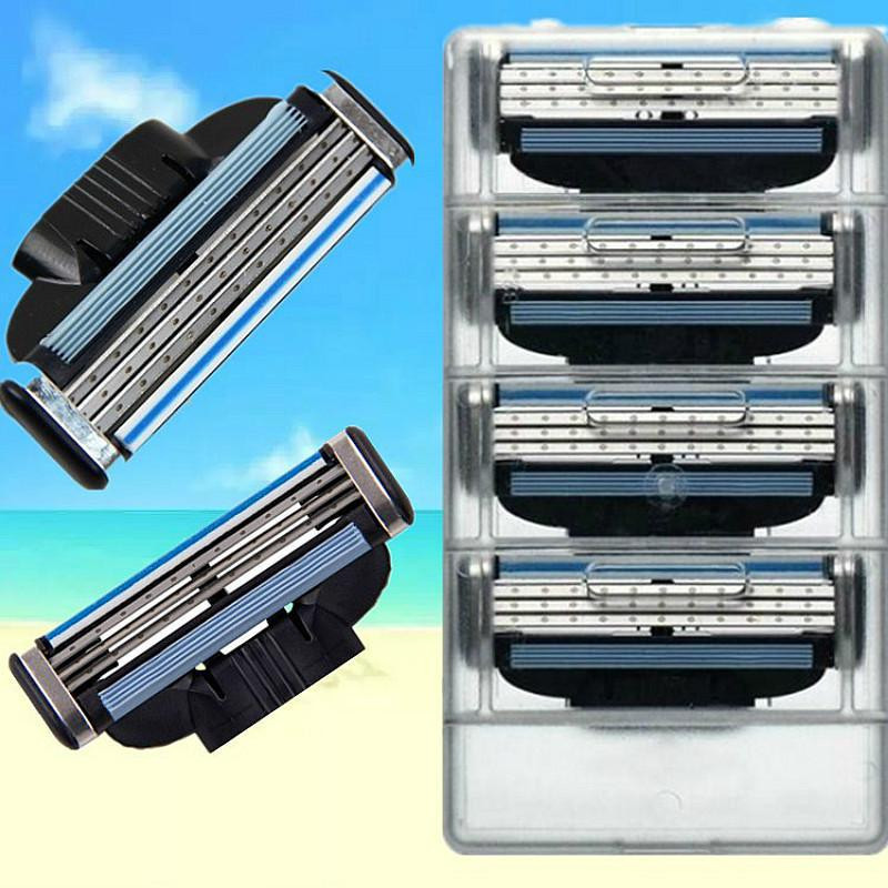 3 Layer 8pcs/lot  Razor Blades For Men Gile Shaver Blades Beauty Proglide Shaving Blades Refills Cartridge Gilette Blade