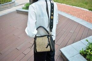 Image 3 - ブロードバンド女性のバッグ 2020 新ダイヤモンドハンドバッグ女性メッセンジャーバッグパッケージバッグとドリルワイドストラップショルダーミニラインストーン