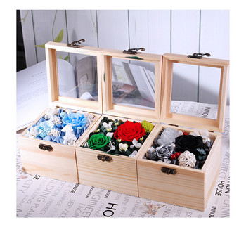 Christmas presents simulation flower roses life box flower wholesale  Free Shipping