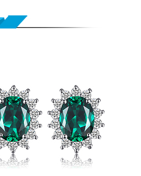 HTB1QAVnjy0TMKJjSZFNq6y 1FXaf JewPalace Princess Diana Simulated Emerald Ring 925 Sterling Silver Rings for Women Engagement Ring Silver 925 Gemstones Jewelry
