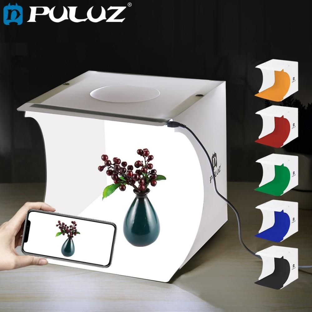 PULUZ 20*20cm 8 Mini Foldable Camera Photo Studio Box Photography Light Tent kit lightroom Emart Diffuse Studio Softbox lightbox