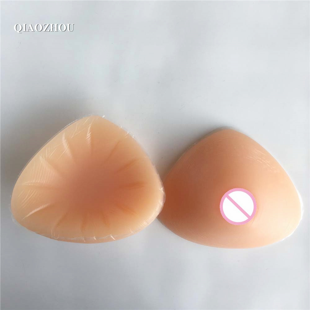 500g/pair triangle small fake silicone breasts realistic false forms boobs for man crossdressing mastectomy