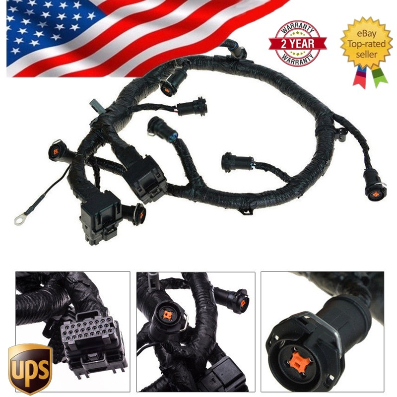5C3Z9D930A For Ford Diesel Powerstroke Excursion F250 F350 F450 F550 250 350 450 550 F V8 6.0L Fuel Injector FICM Wiring Harness ford f 250 f250 f 350 f350 f 450 interior wood dash trim kit set 2011 2012 2013