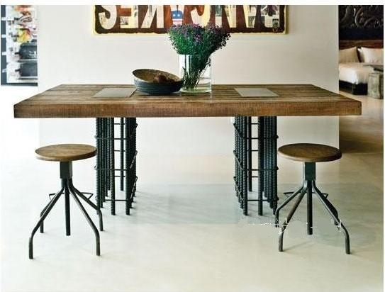 american country wrought iron vintage desk. Vintage Wood , Wrought Iron Coffee Table LOFT French Countryside American Country To Do The Old Desk W