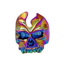 Dos homens de Esqueleto Do Crânio Da Liga do vintage Anéis Anel de Dedo Fantasma Halloween Terror Barato Jóias Antigas Estilo Punk, Item no.: JY2735