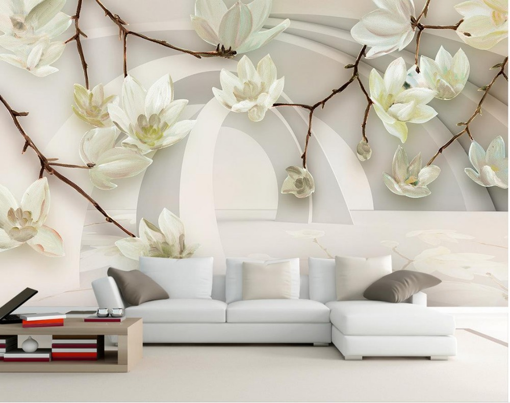 3d Stereoscopic Mural Wallpaper Magnolia Wallpaper Mural Collection 12 Wallpapers