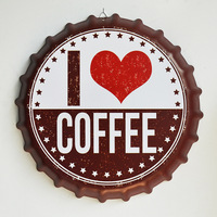 Tin Sign I like coffee Vintage Metal Painting Beer Cover Cafe Bar Hanging Ornaments Wallpaper Decor Plates Retro Mural