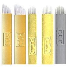 5 Pcs Lumina Hard 12/14/12u/14u /18u /19u Eyebrow Tattoo Needles Microblade Manual Permanent Makeup Cosmetic Blade