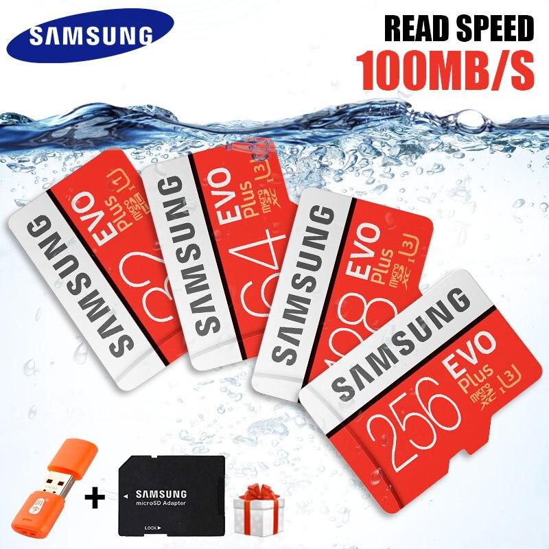 Original SAMSUNG Micro Sd-karte 32 GB 64 GB 128 GB 265 GB Memoria Micro SD High Speed 100 MB/S U3 4 Karat 128 GB 265 GB SDXC Microsd Karte