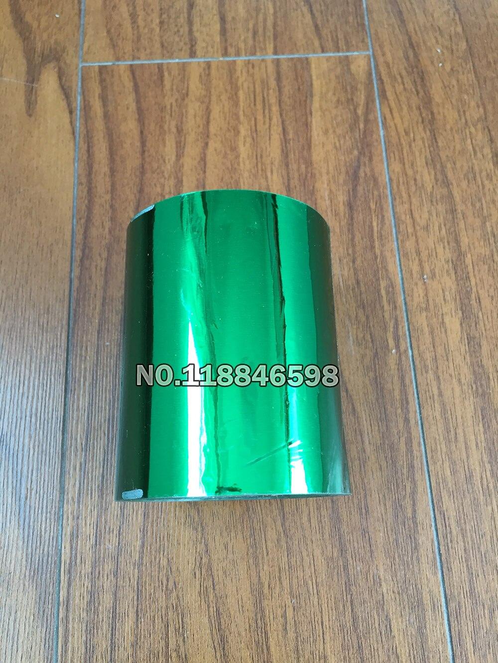 Green Color 80mm Width PVC Business Card Emboss Hot Foil Stamping Heat Transfer Hot Foil Paper