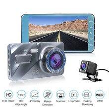 HGDO 4.0 дюймов регистратор автомобильный HD 1080 P видеорегистратор видеорегистраторы автомобильные видео регистратор с 2.5D Стекло экрана видеорегистратор с двумя камерами автомобильный видеорегистратор