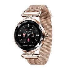 RAVI New Arrival Women Fashion Smart Watch H1 Blood Pressure Heart Rate Monitor Fitness Tracker Bracelet Watch Diamond Flower