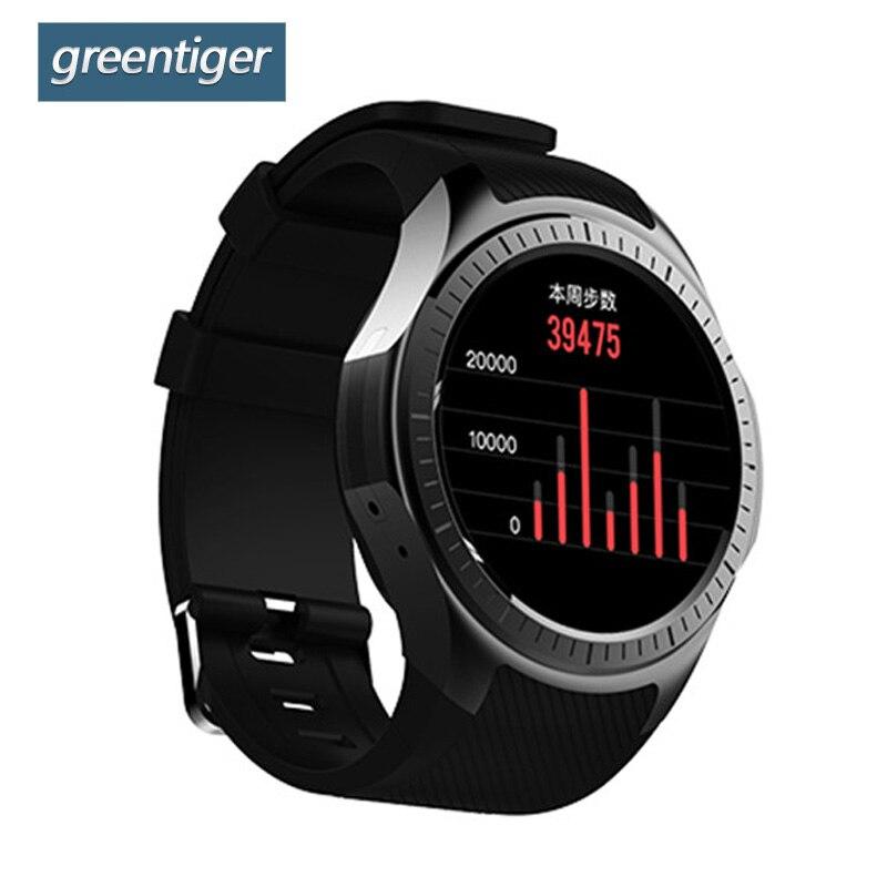 Greentiger L1 Smart Watch Bluetooth GPS Men Heart Rate Monitoring Pedometer Sleep Monitor Sport Smart Band PK KW88 SmartWatch