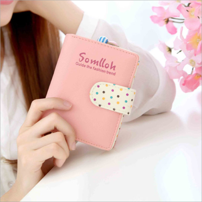 2016 New Cute Lady Women Girl Lovely Short Purse Candy Wallet Zip Handbag Card Holder Clutch wallet
