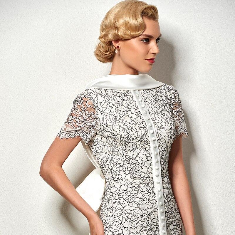 Dressv sexy ryggfri kappe kort cocktail kjole vintage høy nakke - Spesielle anledninger kjoler - Bilde 5