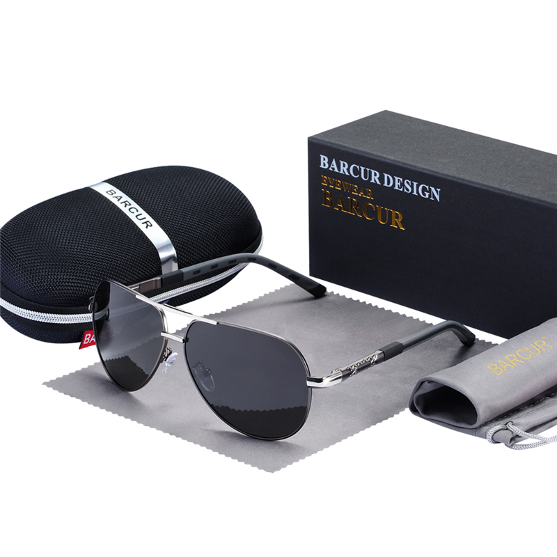 BARCUR Fashion Glasses Hot Style Men sunglasses Polarized UV400 Protection Driving Sun Glasses Male Oculos de sol 7