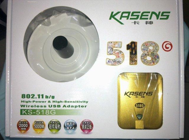 Free Shipping!10% discount to the order at qty. no less than 2pcs!KASENS KS-518G RTL8187L  Wireless LAN WiFi USB Adapter