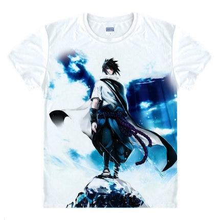 Kakashi Gaara póló Naruto Sasuke póló One Piece Anime póló 3D rajzfilm nyomtatás Rövid ujjú iskola osztálytársa aranyos viselet