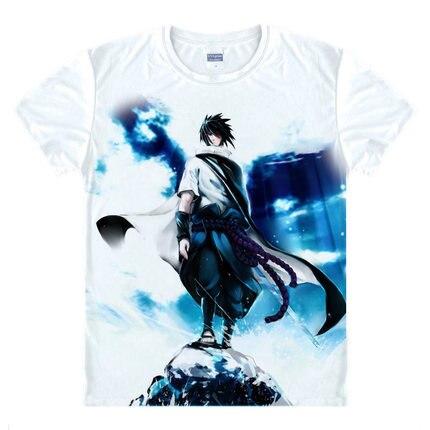 Футболка Kakashi Gaara Футболка Naruto Sasuke One Piece Аниме Tee Shirt 3D мультфильм с коротким рукавом с принтом Одноклассник Cute Wear
